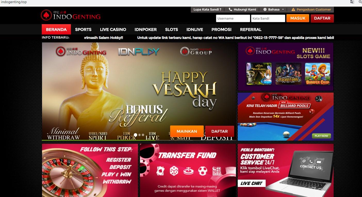 Panduan Penjelasan di dalam game Live Casino Online